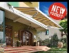 retractable half cassette awning with Light-- LCM/LCMD