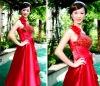 2011 new Very feminine flower Korean bride wedding dress strap LF313