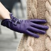 Nice Style,High Quality,Knot,Ladies Goatskin Gloves