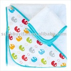 organic cotton/bamboo& cotton hooded baby towel BC-BR1178