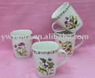 2011 new design new bone china tea mug cup with beautiful decal printing