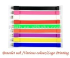 Promotional armband usb ,customized logo bracelet usb ,cheap wrist cost usb