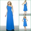 JB0177 One-shoulder Navy Blue Best Chiffon Modest Bridesmaid dresses