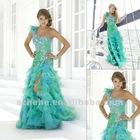 Generous 2012 beaded organza one shoulder mermaid prom dress