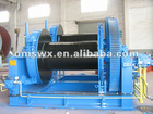 Double drum Marine Hydraulic Anchor Winch powered by Diesel Driven HPUin waterfall