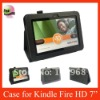 Smart Cover Leather Case For Kindle Fire HD 7'',Black Color