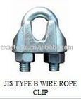JIS TYPE A GALV MALLEABLE WIRE ROPE CLIPS