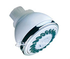 Three function plastic rain hand shower head