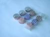 Chocolate Cup 9PCS/SET PVC Case, check design, round shape