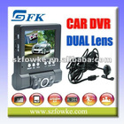 Portable HD Dual Lens Car Camera Vehicle Blackbox DVR (L1000)
