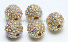 12mm AB crystal rhinestone beads