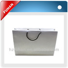 White shopping paper bag without logo for clothes