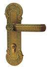 Zinc Alloy Brass Finish Door Lock With Unique Chinese Ancient Design