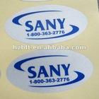 Custom matte silver finish polypropylene label