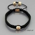 Rose Gold beads perle de cristal de shamballa Handmade Bracelet NYB153