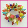 New arrival cocourful rivet elastic cuff Bracelet costume Jewelry