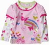 F3339#PINK Ready made baby girl butterfly winter spring t shirt