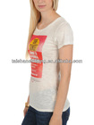 Ladies' custom t-shirt,beautiful t-shirt