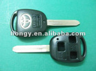 Toyota 3 buttons remote key shell with short blade without logo