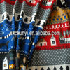 100%polyester brushed christmas sock fabric