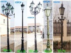 cast iron/aluminum outdoor lamp pole