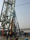 Hydraulic cylinder for pile driver barge