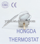 Capillary thermostat for water heater and deep frier
