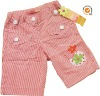 children clothing little girl pants with emboridery