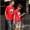 100%cotton red o-neck short sleeve couple t shirt &shirts