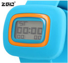 2012Top sale sports slap silicone watch of lcd students multifunctional(calendar/alarm/stop/cold light/week) waterproof watches