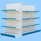 Metal supermarket shelf for storage