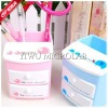 cute candy color pvc pencil case drawer-type storage box