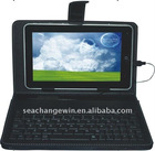 """good quality of 7"""" tablet pc leather keyboard case"""