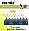 OK-8008 UHF conference wireless microphone(8*32channels)