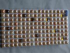 Orange Color Fullbody Mix Diamond Glass Mosaic Tile