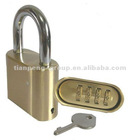 High quality combination padlock with resettable code