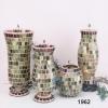 Mosaic Candle holder,glass Mosaic candle holder,mosaic craft