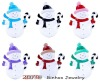 Mix Color Alloy Christmas Snowman Brooch