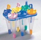 six cubs per set PP colourful Umbrella ice cream maker