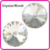 Color Clear/Crystal 22mm Rivoli Crystal Stones, Shiny Fancy Stones as SWAROV Crystal Stones, Chinese Top Quality Crystal Rivoli