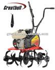 gasoline mini tiller 6.5HP garden machine cultivator
