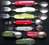 420steel+pvc handle folding pocket cutlery set C440
