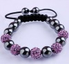 Kids gift , child CZ crystal disco ball Lovely children Shamballa bracelets