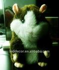 2012 hot Christmas Speaking Record Hamster plush toys