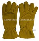 plain dyed polar fleece gloves