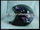 Newest women fashion LED half face helmet