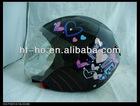 Newest women fashion LED half face helmet