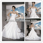 strapless sweetheart taffeta fabric good ruffle working lace-up back wedding dress 2013