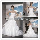 strapless sweetheart taffeta fabric good ruffle working lace-up back wedding dress 2013