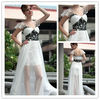 Front in Short and Long in Back Chiffon Evening Dress